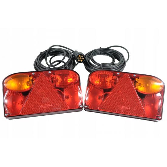 ZESTAW LAMP DO PRZYCZEPY BAJONET | FT-88 LPM PPM | WTYCZKA 7 PIN | 6M