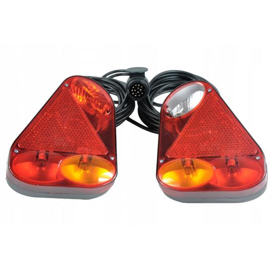 ZESTAW LAMP DO PRZYCZEPY BAJONET | FT-77 LPM PCOF | WTYCZKA 13 PIN | 6M
