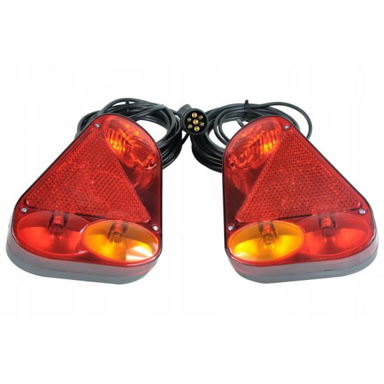 ZESTAW LAMP DO PRZYCZEPY BAJONET | FT-77 LPM PPM | WTYCZKA 7 PIN | 6M